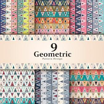 Элегантный фоновый узор с красочными треугольными элементами