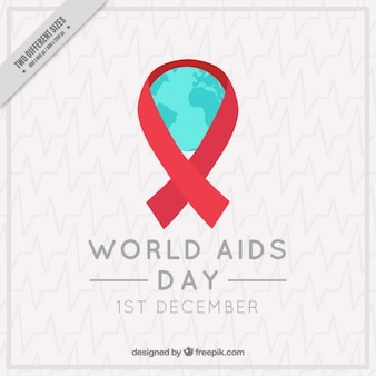 Elegant background of red ribbons world aids day