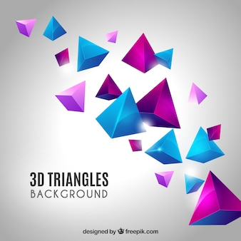 Elegant background with 3d triangles