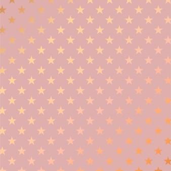 ローズゴールドの星のパターンとエレガントな背景