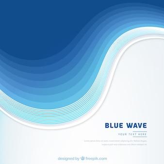 青い波とエレガントな背景