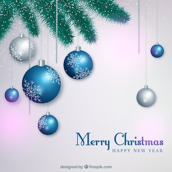 Elegant background with christmas balls