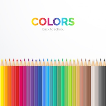 Elegant background with colorful pencils