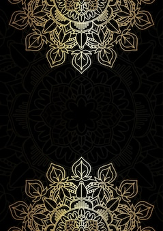 Elegant background with a decorative gold and black mandala design