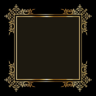 Elegant background with a decorative gold border