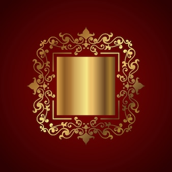 Elegant background with decorative gold frame