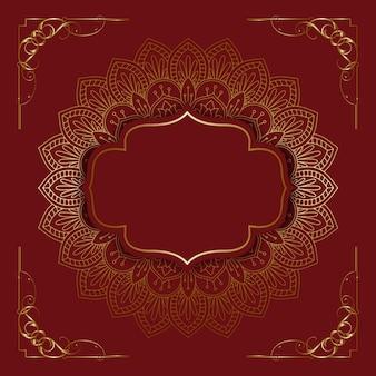 Elegant background with decorative mandala design