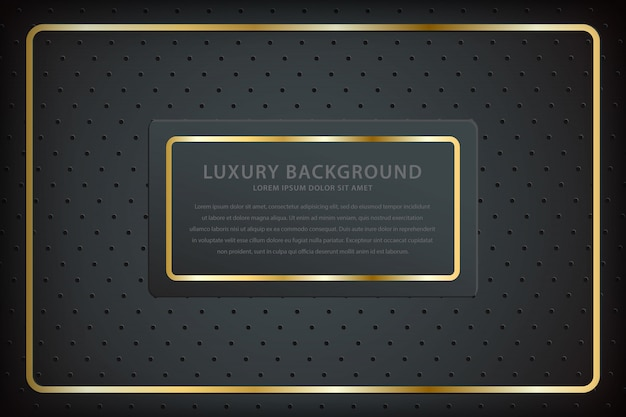 Elegant background with gold square lines and sparkling spots