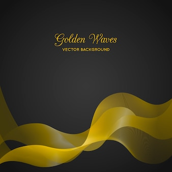 Elegant background with golden abstract waves