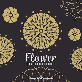 Elegant background with golden flower