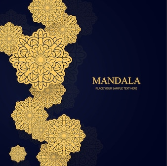 Elegant background with golden mandalas