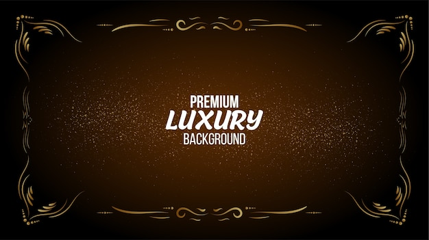 Elegant background with luxury frame design