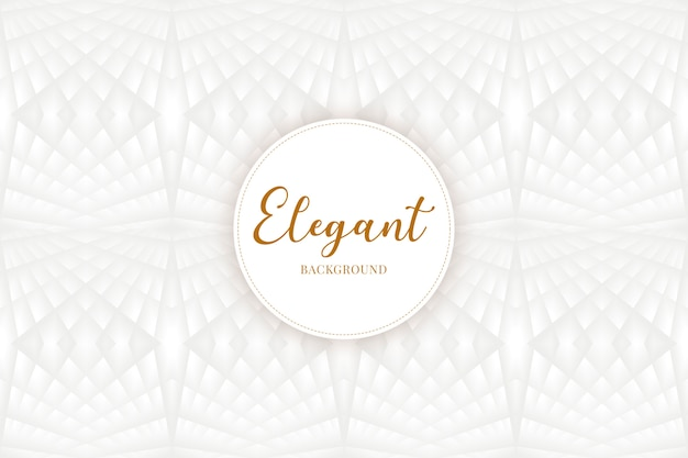 Elegant background with polygones in white