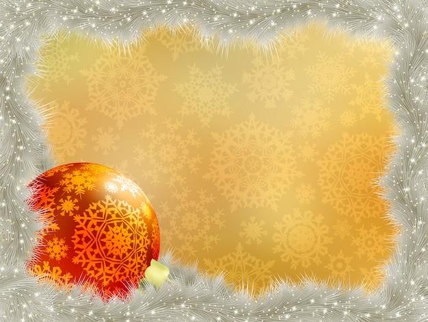 Elegant background with snowflakes.