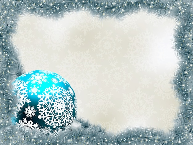 雪片でエレガントな背景。
