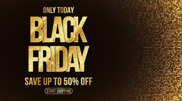 Elegant banner for black friday sale. commercial discount event.