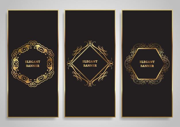 Elegant banner set
