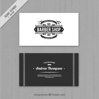 Elegant barber shop card