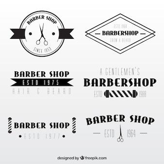 Elegant barber shop logos in vintage style