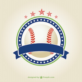 Elegant baseball ball logo