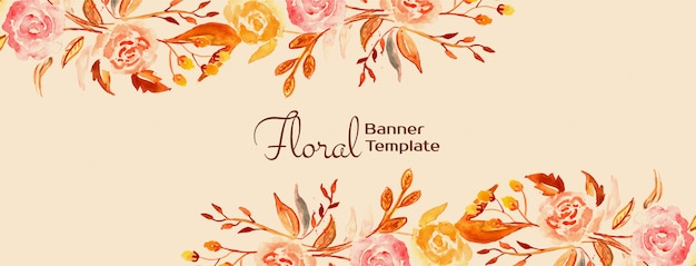 Elegant beautiful floral banner design