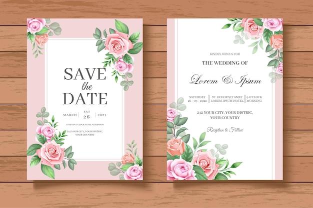 Elegant and beautiful floral wedding invitation card