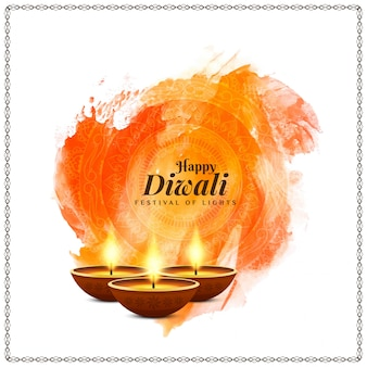 Elegant beautiful happy diwali festival background