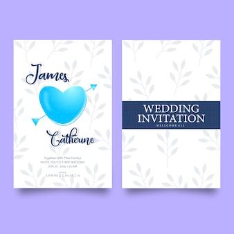 우아한 아름 다운 결혼식 초대 카드 템플릿 디자인