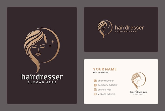 Elegant beauty moman logo . logo can be used for hairdresser, beauty salon, haircut, beauty care.