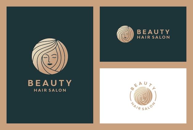 エレガントな美しさの女性のロゴ