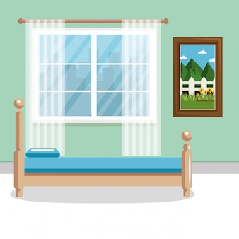 Elegant bedroom scene classic
