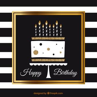 Elegant birthday cake background