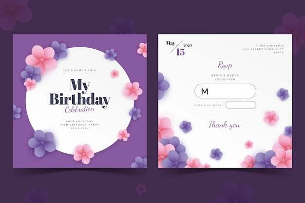 Элегантная поздравительная открытка / шаблон приглашения