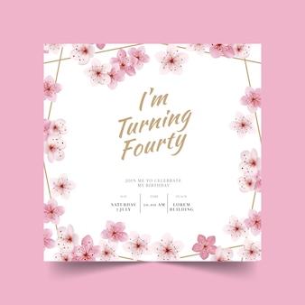 Elegant birthday card template concept