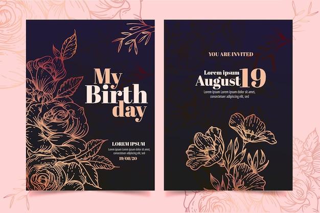 Elegant birthday card template