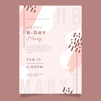 Elegant birthday invitation card template theme