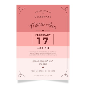 Elegant birthday invitation card template