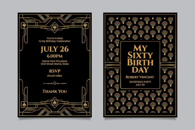 Elegant birthday invitation template