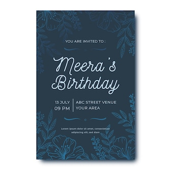 Elegant birthday invitation