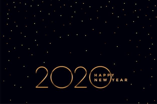 Элегантный черный и золотой 2020 новогодний фон
