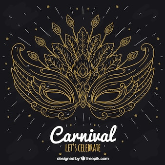 Elegant black and golden carnival background