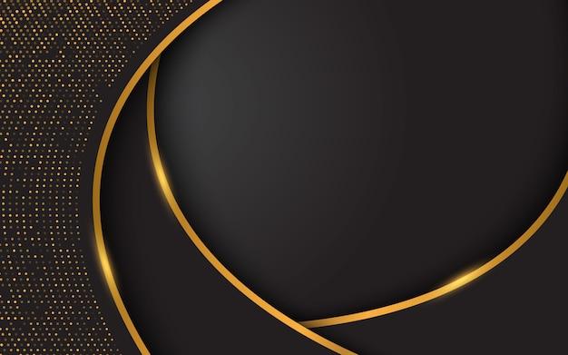 Elegant black background with golden glitters