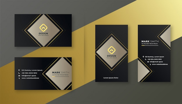 Elegant black business card template set