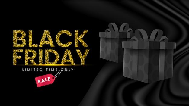 Premium Vector Elegant Black Friday Background With Gift