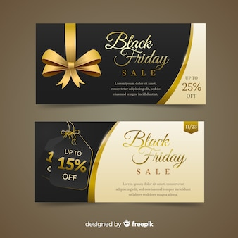 Elegant black friday discount banners