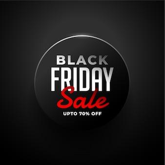 Elegante banner di vendita venerdì nero su fondo nero
