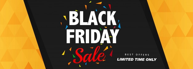 Elegant black friday sale banner layout template