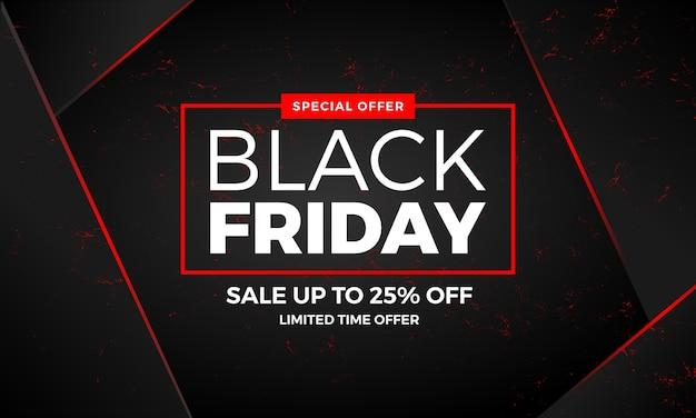 Elegant black friday sale promotion banner