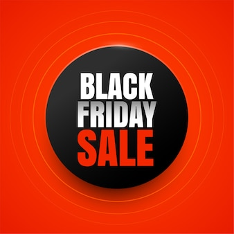 Elegant black friday sale red background design