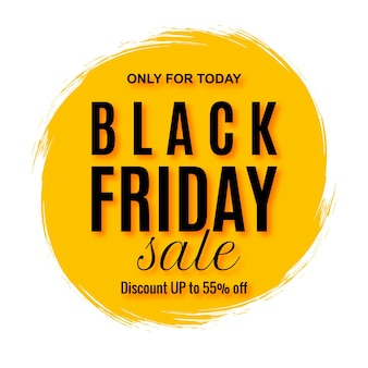 Elegant black friday sale with splash